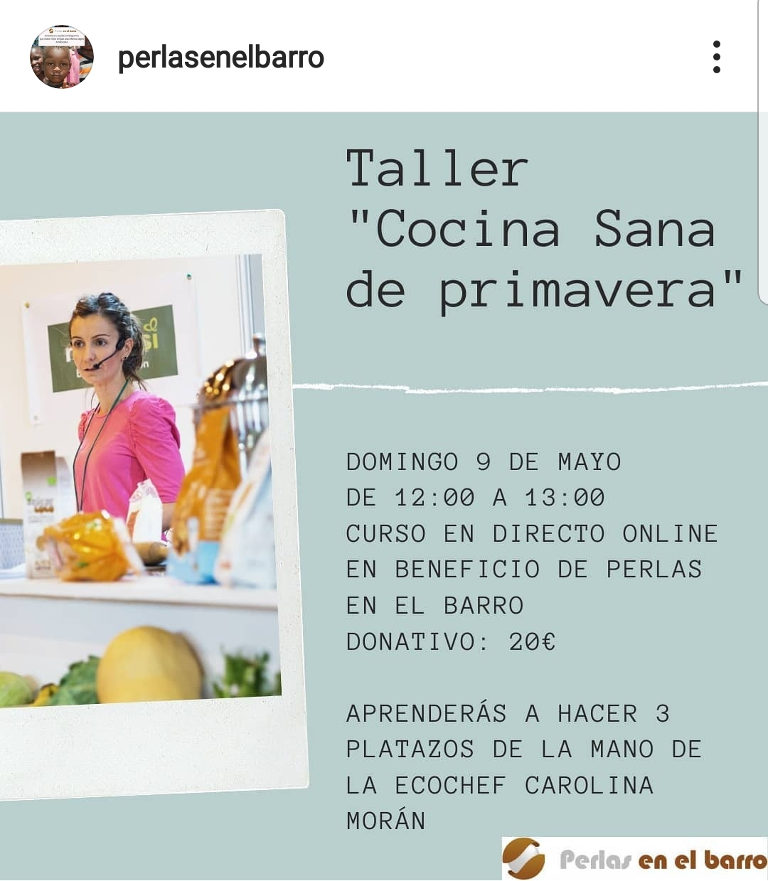 TALLER COCINA SOLIDARIA – RECETAS DE PRIMAVERA | 9 DE MAYO